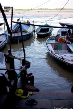 Flooded gath, Varanasi
